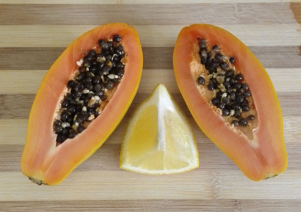 Papaya and Lemon Juice